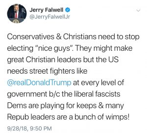 Jerry Falwell Tweet from 9/28/18